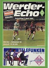 BL 88/89 SV Werder Bremen - Hannover 96