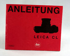 Leica Original Cl Instruction Book -32 pages in German