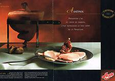 PUBLICITE  advertising  2001    AOSTE  jambon  à l'os   AOSTINOS ( 2 pages)