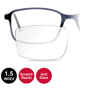 1.5 Index Coated RX Lenses Fitted to Frame - Anti Glare and Scratch Resistant