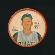 1962 Shirriff Canadian Plastic Coin Baseball RARE #138 Dick Groat Pirates