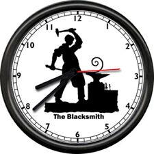 The Blacksmith Anvil Tools Art Iron Worker Sign Wall Clock #82