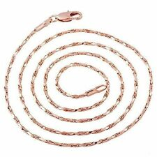 Womens Jewelry 21 inch Rose Gold Filled Long Necklace Snake Chain Free Shipping