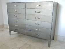 industrial sideboard Dalvanized 12 drawer chest retro urban vintage cabinet