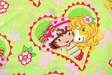 Strawberry Shortcake Duvet Cover - Twin Size Bedding Honey Pie Pony Green Hearts