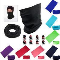 Unisex Solid Colors Scarf Tube Bandana Head Face Mask Neck Gaiter Snood Headwear