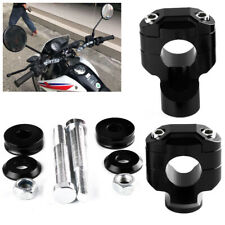 Universal Aluminum Motorcycle HandleBar Handle Fat Bar Mount Clamps Riser 28.5mm