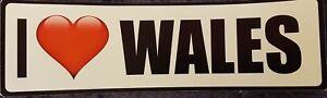 I Love Wales Bumper Laptop Window Sticker