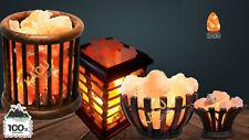 Himalayan Natural Air Purifying Pink Salt Lamp Basket Ioniser Different Size NEW