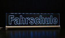 FAHRSCHULE  LED  LEUCHTSCHILD  40x10cm incl. Netzteil