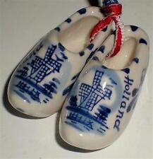 SHOES WOOD DUTCH CLOG HOLLAND SOUVENIR CERAMIC DECORATIVE MINIATURE SET