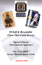 Perfect Fit Card Sleeves for Sports Jersey Cards Clear View 50 Sleeves 130-180PT
