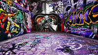 canvas street art painting original star wars by andy baker  poster