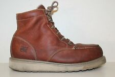 Timberland PRO Mens Barstow Wedge Alloy Toe Work Boots Sz 13 M Brown Leather
