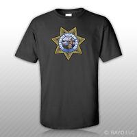 California Highway Patrol Seal T-Shirt Tee Shirt Free Sticker CHP chips