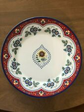 Vera Bradley Andrea by Sadek Decorative Plate Red and Blue Great Condition