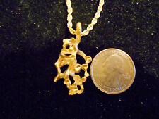 bling gold plated gaming casino nugget dude charm chain hip hop necklace jewelry