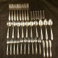 Antique vintage ALVIN Louisiana Patent 37 Pieces Flatware set silverplate