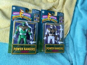 Retro Mighty Morphin Power Rangers Tommy Green / White Ranger Action Figure Lot