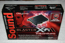 Creative Sound Blaster X-Fi Titanium Fatality PCI-E x1 Sound Card Pro Series