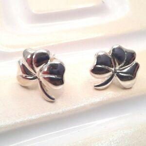 Sterling Silver Shamrock Stud Earrings Heritage by Kit Heath Earrings in Box
