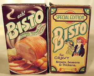 Set of Two Bisto Powder For Gravy Browns Seasons Thickens Made in UK Boxes