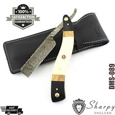 New Damascus Steel Straight Razor Cut Throat Barber Salon Shaving shave Pouch.