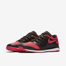 ff61a03fb502 New Nike Air Zoom Vapor X HC Hard Court Tennis Shoes Size 12.5 Solar Red  Black