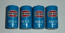 Vintage 1970's Ever Ready Blue R14B 1.5V Battery Lot Of 4 Fine Condition C-Type