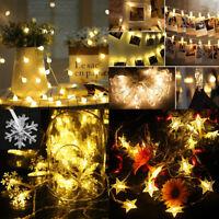 Snowflake Bulb-ball Star Photo Clip LED Fairy String Light for Xmas Party Garden