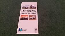 1988 PEUGEOT CONTRACT HIRE & LEASING SMALL BROCHURE 205 GTi / 309 GTi / 405 505