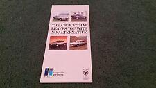 1988 Peugeot contrato de alquiler y leasing pequeño folleto 205 GTI/309 GTI/405 505