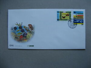 IRELAND, cover FDC 1986, Europe CEPT environment, butterfly