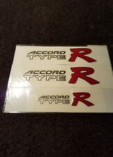 Honda accord TR  decal  sticker  x3