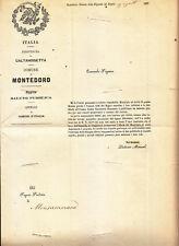 X935-SICILIA-MONTEDORO CIRCOLARE A STAMPA SANITA' 1867