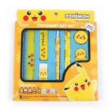 Pokemon Assorted School Stationary 8pcs Gift Set Yellow or Orange Random