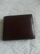 Tommy Hilfiger Men's Leather Credit Card Wallet Billfold Brown