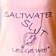 "SALTWATER SLUT ""LETS GET WET"" COTTON TANK sz XXL..PRODUCED BY SALTWATER STUD"