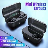 Best Bluetooth 5.0 Headphone TWS Wireless Earphones In Ear Earbud Stereo Headset