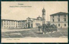 Teramo Città Piazza Armi Militari Fanteria cartolina QT7574