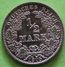 ALLEMAGNE 1/2 MARK 1905 A