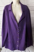 Lane Bryant Womans Purple Cardigan Sweater Blazer Jacket Size 22/24  PT/A-92