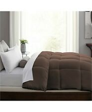 Blue Ridge KING Comforter Hybrid-Blend Quill-Less Feather and Down BROWN E03153