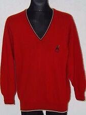 Pringle scotland mens wool long sleeve v-neck red jumper size M