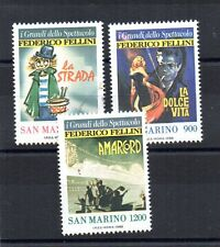 REPUBBLICA SAN MARINO 1988 FEDERICO FELLINI  UNIF. 1233-35 MNH**