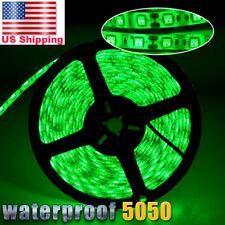 5M 16.4ft 5050 SMD 300 LED Waterproof Strip Lighting 12V FLEXIBLE Green DIY