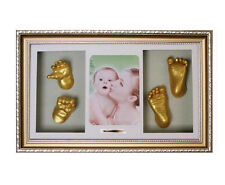 Baby Handprint Footprint 3D Casting Photo Frame Kits Boys Girls Shower Gifts