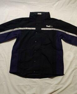 FedEx Men's Stan Herman Hooded Rain/ Weather Proof Soft Shell Jacket XL