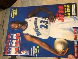Revista Oficial noviembre november 2001 official NBA, michael jordan wizards