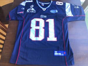 Reebok AARON HERNANDEZ New England Patriots Super Bowl Jersey #81